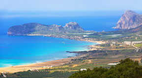 Beautiful Falassarna beach on Crete Royalty Free Stock Photo