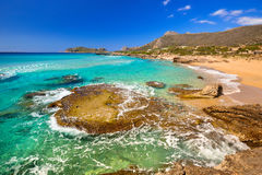 Beautiful Falassarna beach on Crete Royalty Free Stock Image