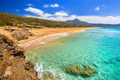 Beautiful Falassarna beach on Crete Stock Photography