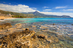 Beautiful Falassarna beach on Crete Stock Image