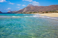Beach on Crete island Stock Photo