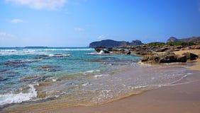 Beautiful Falassarna beach on Crete . Beautiful views of Falassarna beach on Crete, Greece Royalty Free Stock Photo