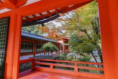 Beautiful Fall Color And Omi Jingu Royalty Free Stock Photos