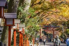 Beautiful fall color of Hiyoshi Taisha. Otsu, NOV 23: Beautiful fall color of Hiyoshi Taisha on NOV 23, 2017 at Otsu, Shiga, Japan Stock Photos