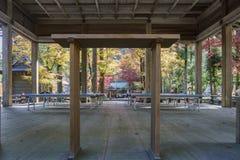 Beautiful fall color of Hiyoshi Taisha. At Otsu, Shiga, Japan Royalty Free Stock Photography