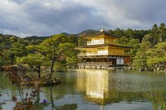 Beautiful fall color of Kinkaku-ji. Kyoto, Japan Stock Photos
