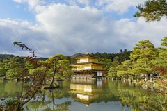 Beautiful fall color of Kinkaku-ji. Kyoto, Japan Royalty Free Stock Images