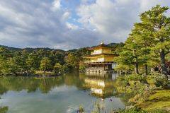 Beautiful fall color of Kinkaku-ji. Kyoto, Japan Stock Image