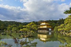 Beautiful fall color of Kinkaku-ji. Kyoto, Japan Stock Photo