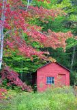 Fall colors of New England on a Farm. Beautiful fall colors of New England United States Royalty Free Stock Photo