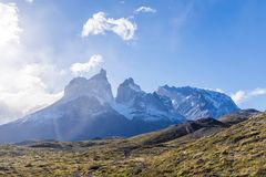 View of Torres del Paine stock images