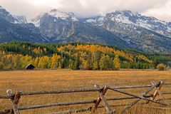 Teton Valley in the Fall. A beautiful Fall scene in Teton Valley Royalty Free Stock Images