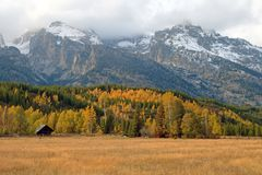Teton Valley in the Fall. A beautiful Fall scene in Teton Valley Stock Images