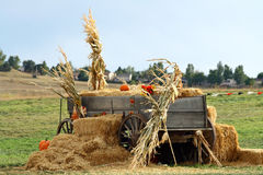 Beautiful Fall Wagon Royalty Free Stock Photos