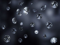 Beautiful falling diamonds background Royalty Free Stock Images