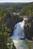 Beautiful falls on and the bridge Stock Photo