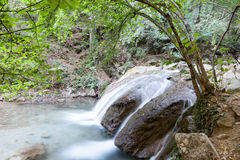 Beautiful falls in mountains, the Crimea, Russia Royalty Free Stock Photography
