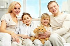 Beautiful family Stock Photography