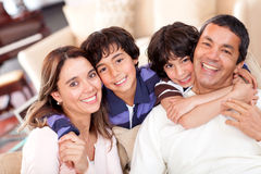Beautiful family Stock Photos