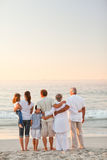 Beautiful family at the beach Stock Image