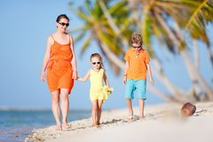 Beautiful family on a beach Royalty Free Stock Image