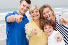 Beautiful family at the beach Royalty Free Stock Photography