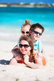 Beautiful family on a beach Royalty Free Stock Photo