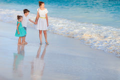 Beautiful family on a beach Stock Photography