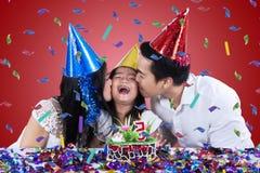 Beautiful family celebrate birthday party Royalty Free Stock Photo