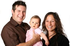 Beautiful family with chuckles Royalty Free Stock Images