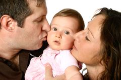 Beautiful family with chuckles Stock Photography