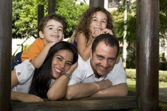 Beautiful family enjoying Royalty Free Stock Photo
