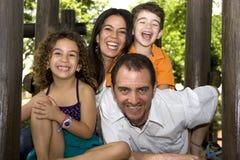 Beautiful family enjoying Royalty Free Stock Images