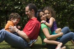 Beautiful family enjoying Royalty Free Stock Photos