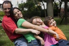 Beautiful family enjoying Stock Image