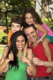 Beautiful family enjoying Stock Photo