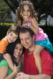 Beautiful family enjoying Stock Photography