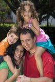 Beautiful family enjoying stock photography