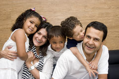 Beautiful family enjoying together Stock Images