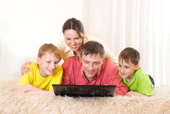 Beautiful family of four Royalty Free Stock Photography