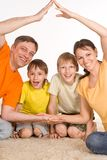 Beautiful family of  a four Royalty Free Stock Image