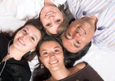 Beautiful family - heads together Stock Photos