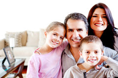 Beautiful family at home Royalty Free Stock Image