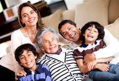 Beautiful family at home Stock Image