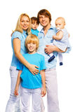 Beautiful family with 3 kids Royalty Free Stock Image
