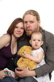 Beautiful family looks at camera Stock Images
