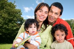 Beautiful family outdoors Royalty Free Stock Image