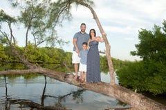 Beautiful family outdoors Stock Photos