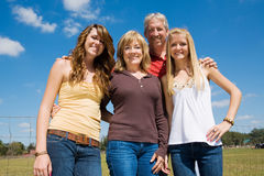 Beautiful Family Outdoors Stock Photography