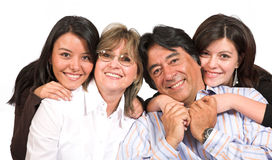 Beautiful family over white Stock Image